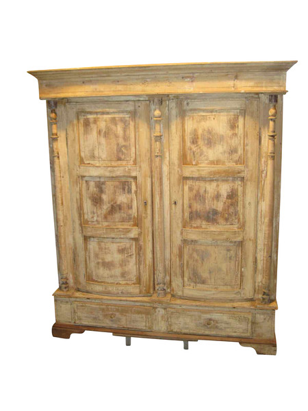 19thc Swedish Bow Front Armoire