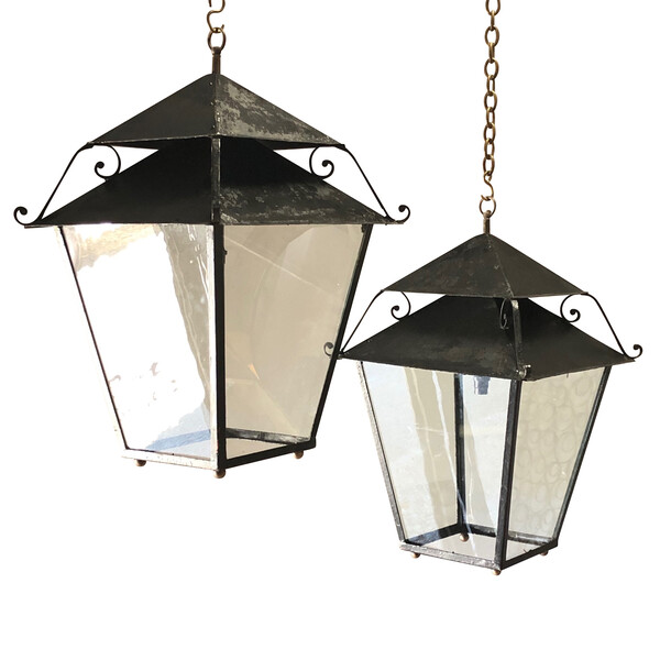 19thc French Pair Lanterns