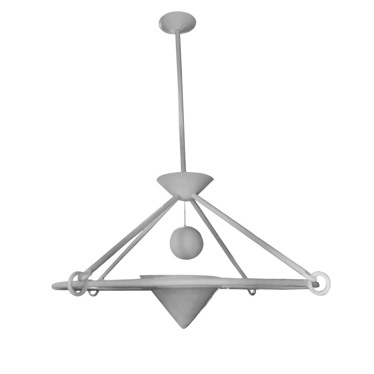 best website d7d8f af261 Balsamo Antiques | Contemporary English White Plaster Chandelier