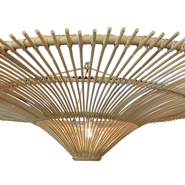 Contemporary Indonesian Extra Large Bamboo Chandelier