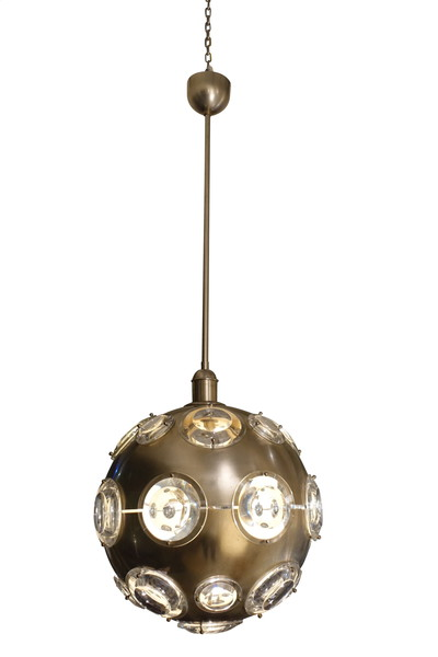 Mid Century French Mult Plexi Light Globe Light