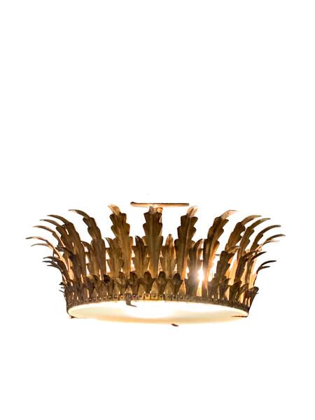 Mid Century Spanish Crown Chandelier