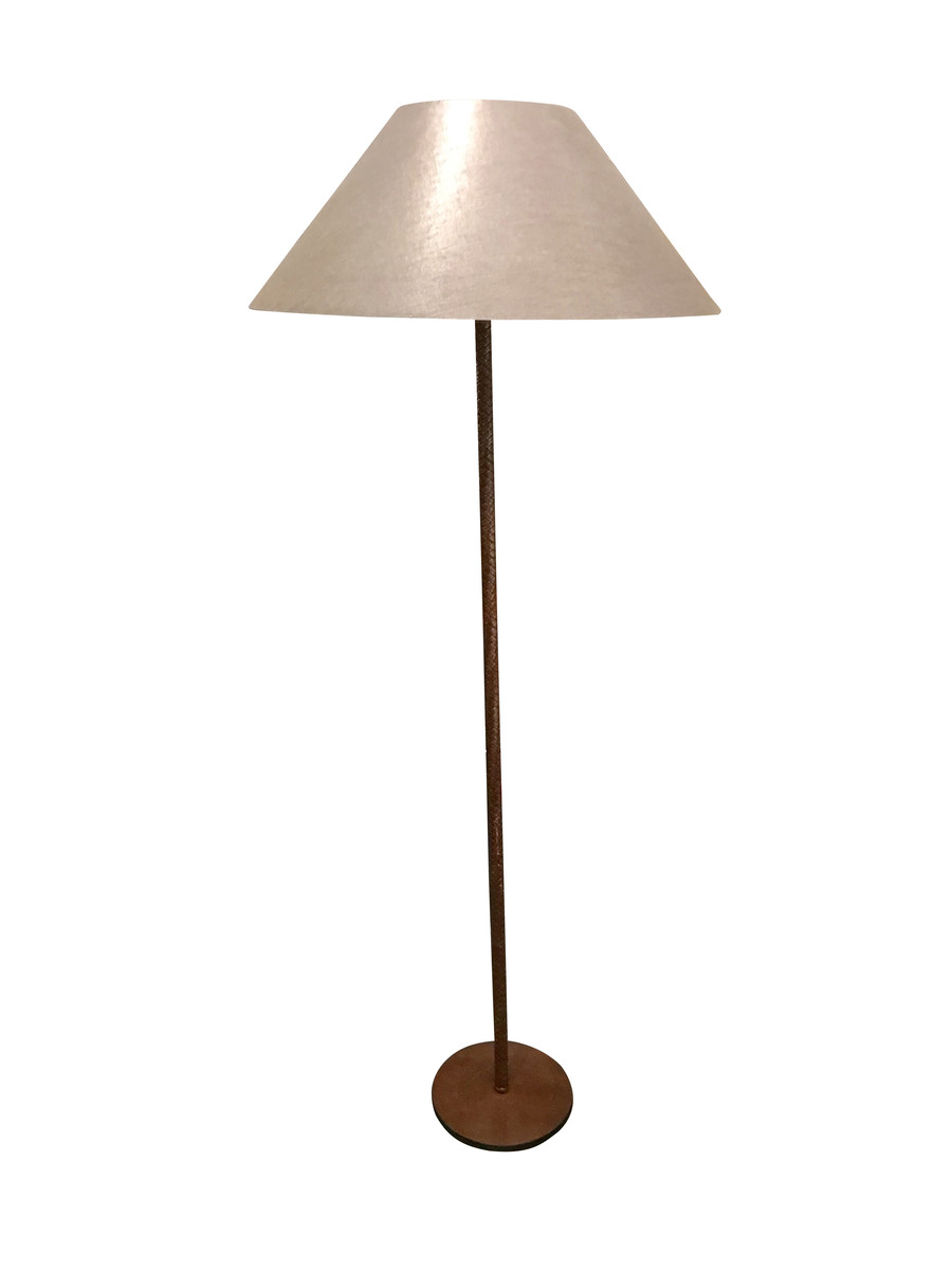 Balsamo Antiques Mid Century French Braided Leather Floor Lamp Rewiring Antique Lamps Previous