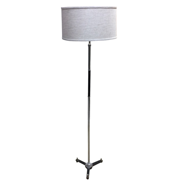 Mid Century French Chrome / Black Floor Lamp