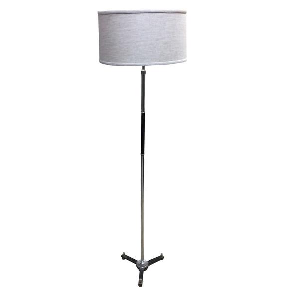 Mid Century French Chrome / Black Floor Lamp