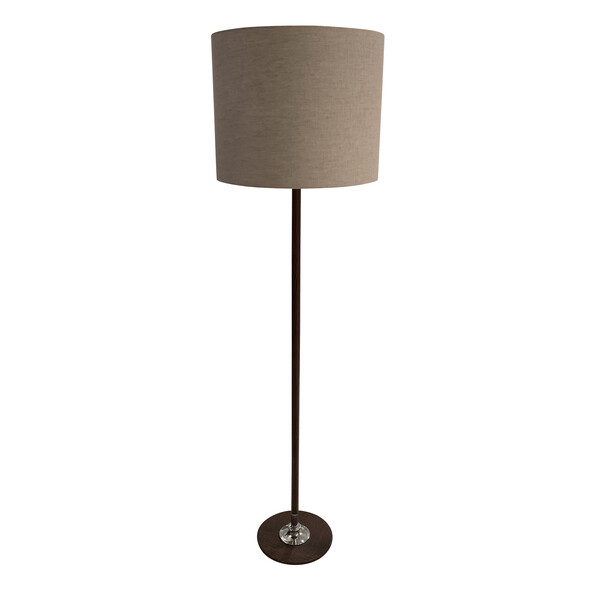 Mid Century Spanish Textured Leather Floor Lamp