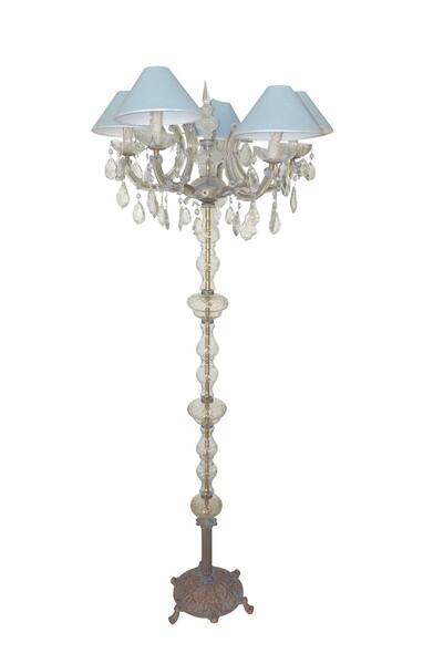 1940's Italian Murano Candelabra Floor Lamp
