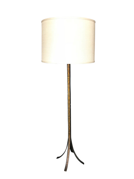 1960's Spanish Pierre Lottier Greek Key Floor Lamp