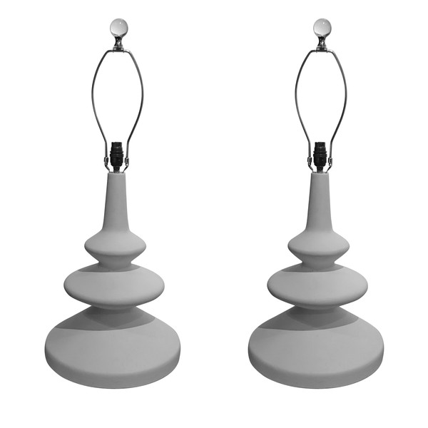 Contemporary English Pair Plaster Lamps