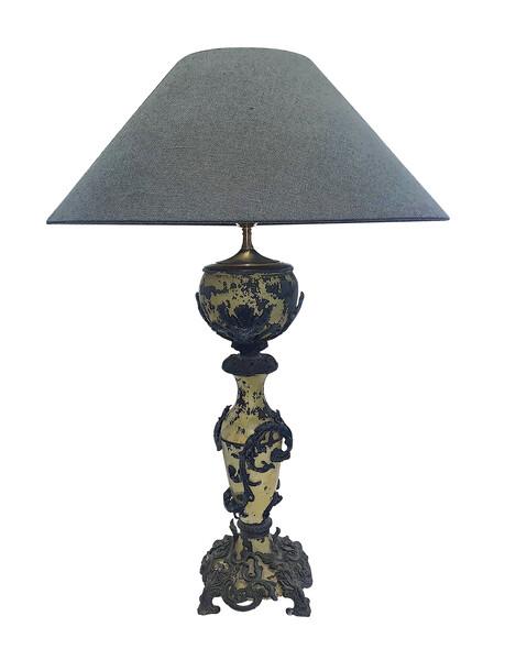 1940's Italian Ornate Zinc Single Lamp