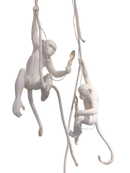 Contemporary Italian Pair Monkey Pendants