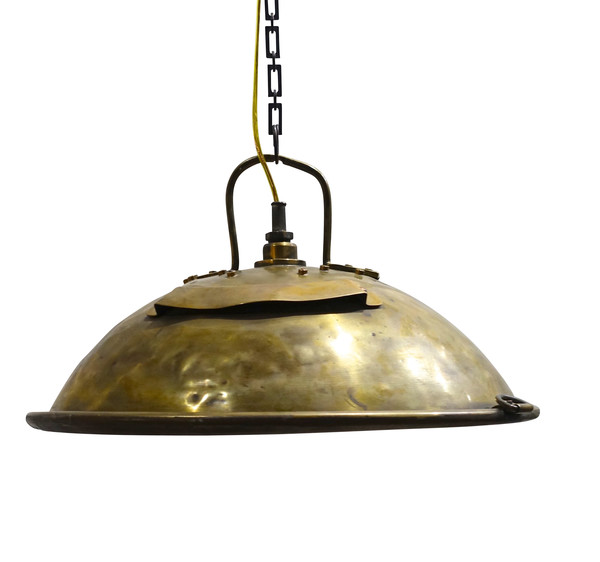 1920's English Brass Industrial Light