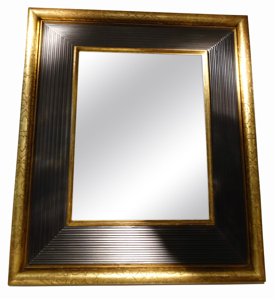 1850c French Gold / Black Framed Mirror