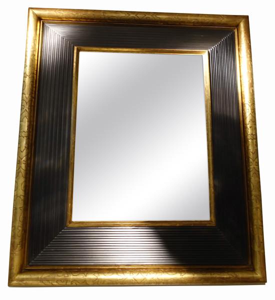 1850c French Gold / Black Framed Mirror