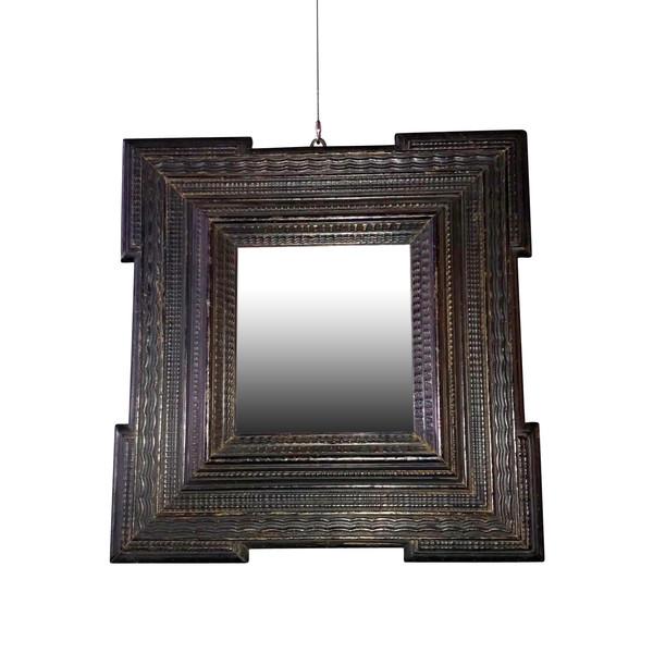 18thc Dutch Ebonized Mirror