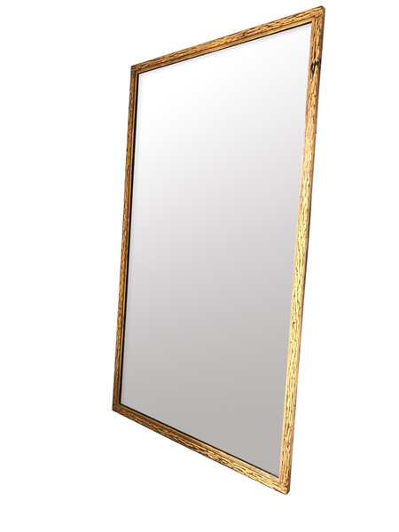 1950's Spanish Gold Gilt Metal Framed Mirror
