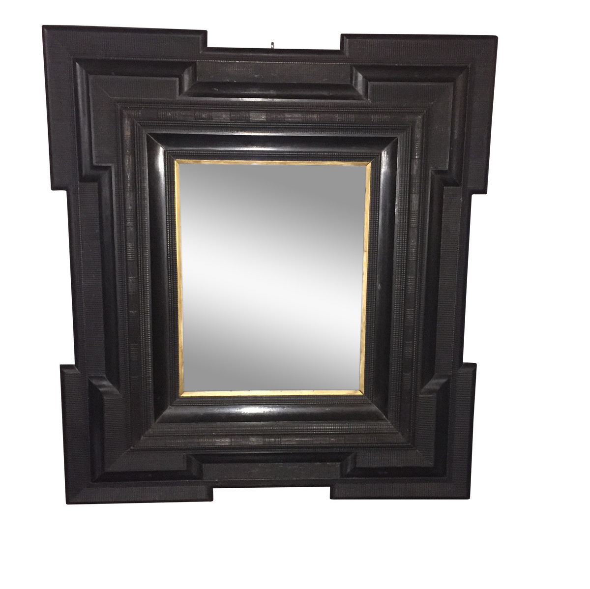 Balsamo antiques 19thc dutch large black framed mirror for Big framed mirror