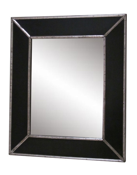 19thc French Ebonized Wood Frame Mirror