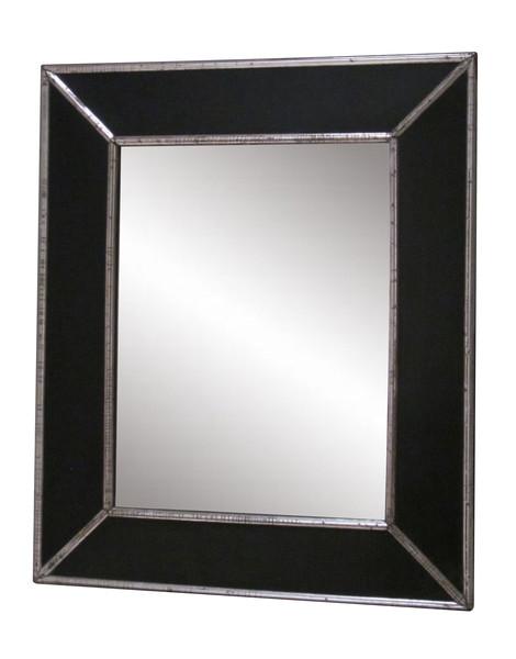 19thc French Ebonized Wood Frame Mirror