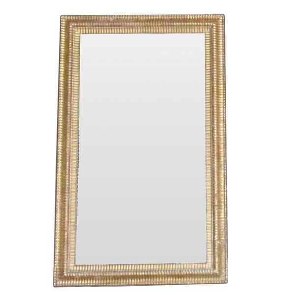 19thc French Gold Gilt Reed Design Frame Mirror