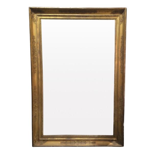 19thc French Gold Gilt Wooden Framed Mirror