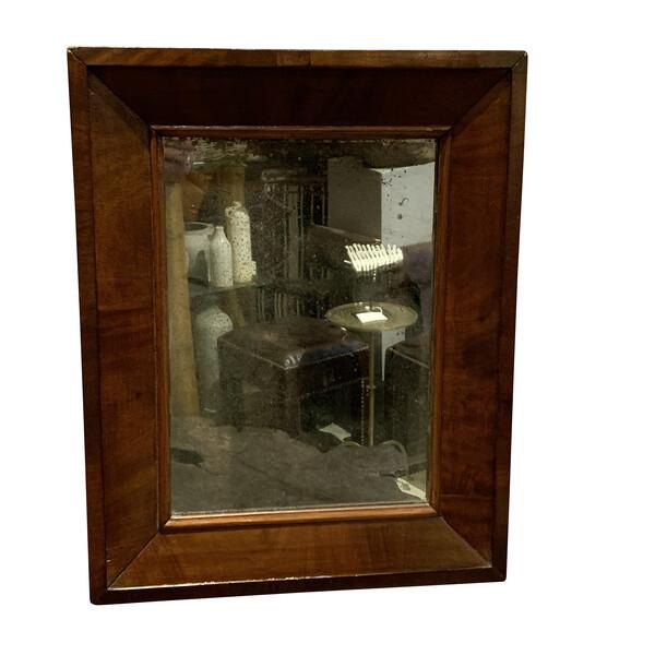 19thc French Mahogany Frame Mirror