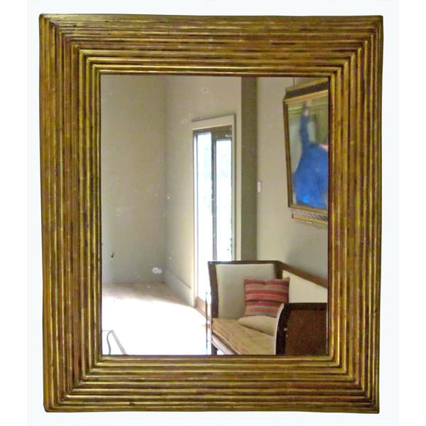 19thc Spanish Gold Gilt Framed Mirror