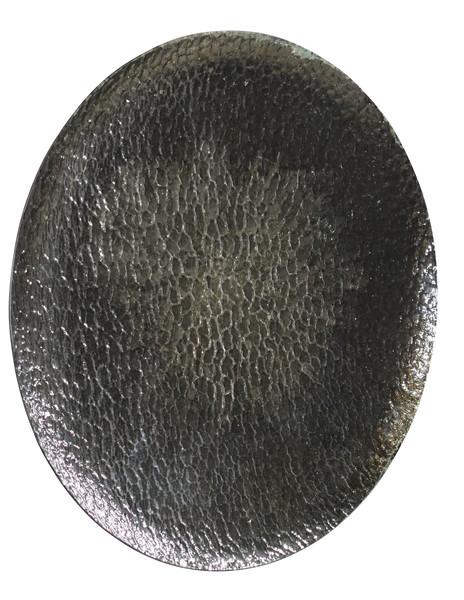 Contemporary French Concave Hammered Mirror