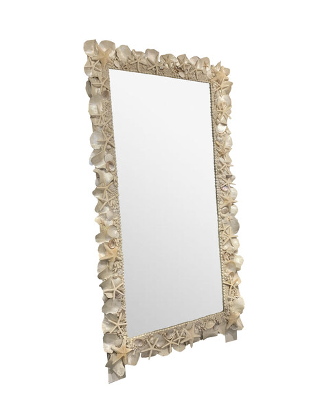 Contemporary French XXL Shell Framed Mirror