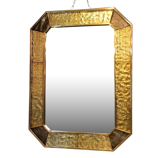 Contemporary Italian Murano Glass Framed Mirror