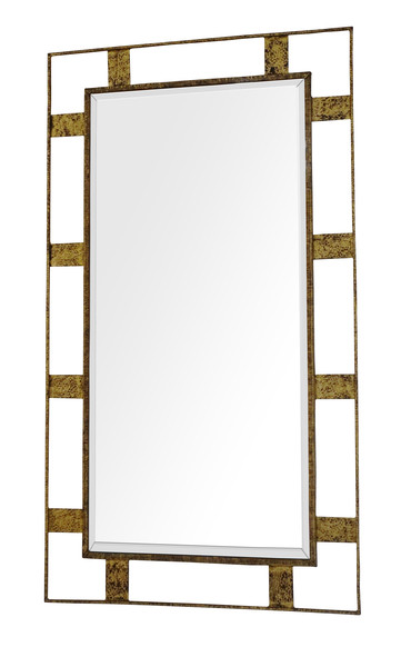 1930 's French Gold GIlt Iron Framed MIrror