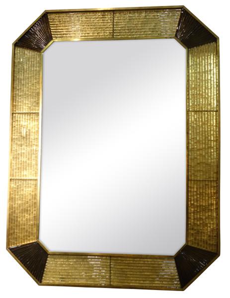 1960's Italian Murano Glass Framed Mirror