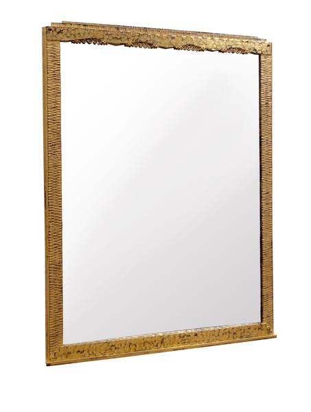 1920's French Gold Gilt Iron Rectangular Mirror