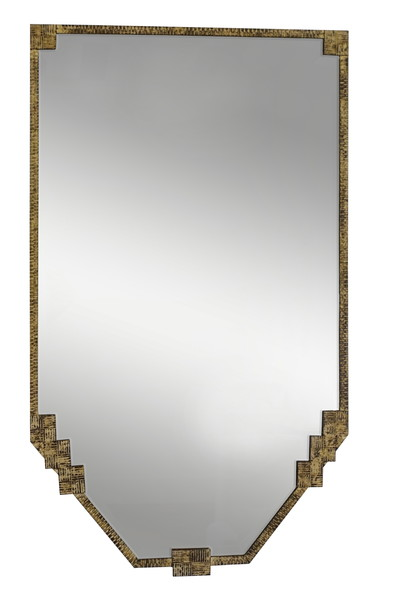 1930's French Gold GIlt Metal Frame Mirror