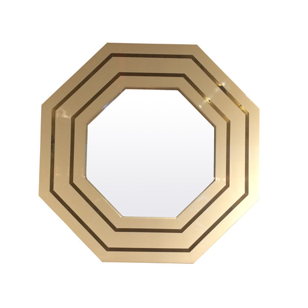 1970's French Octagonal Mirror