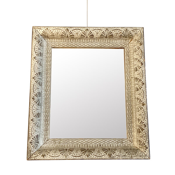 1940's French Silver Leaf Framed Mirror