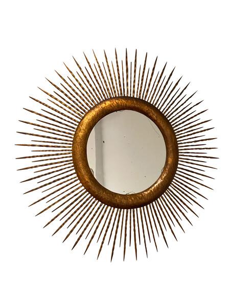 1960's Spanish Round Gold Gilt Starburst Mirror