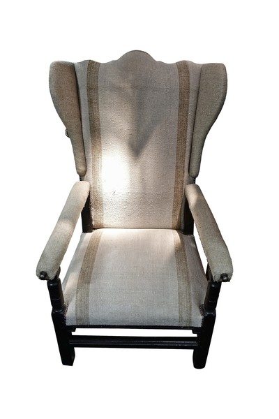 18thc French Adjustable Wing Chair