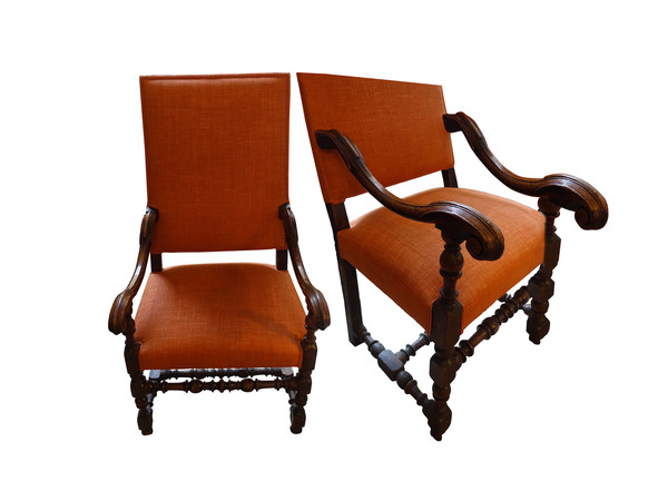 18thc Italian Pair Side Chairs