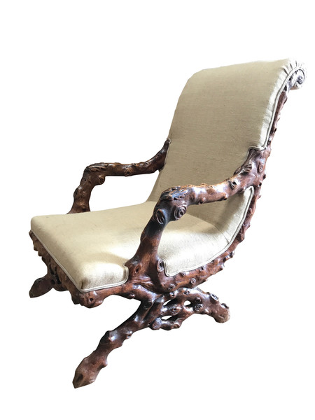 19thc English Grotto Chair