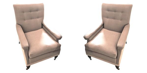 19thc English Pair Club Chairs