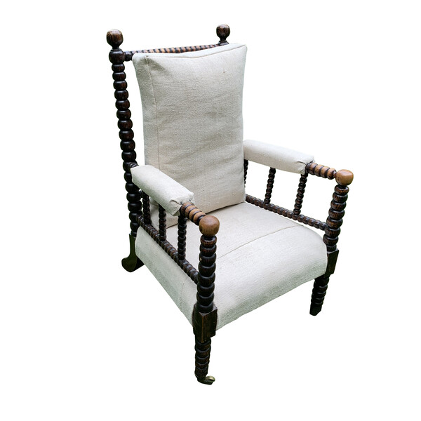 19thc English Single Bobbin Chair