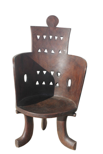 19thc Ethiopian Carved Wooden Chair