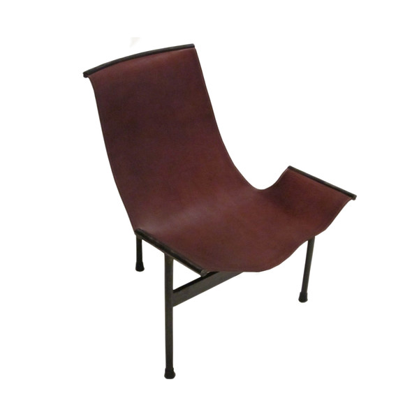 Contemporary Spanish Leather and Iron T Chair