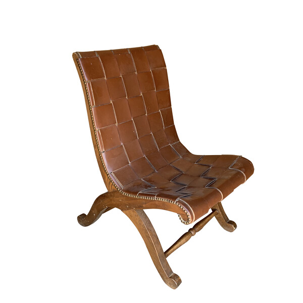 Mid Century Spanish Valenti Leather Chair