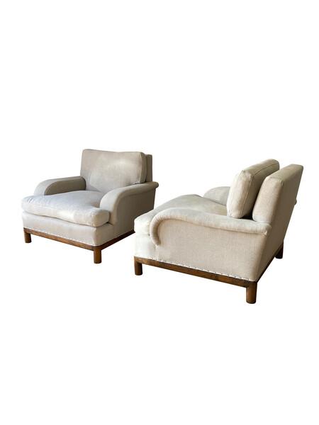 1940's English Pair Club Chairs