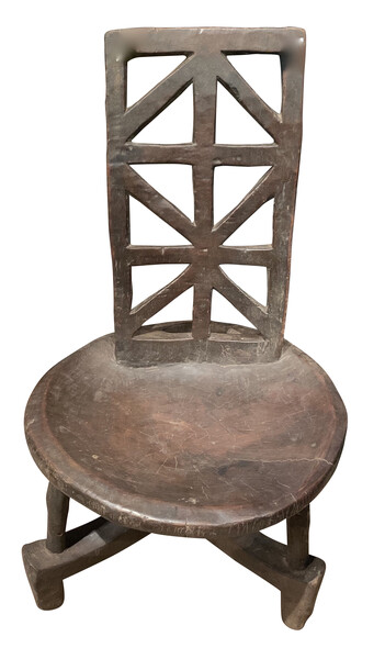 1950's Ethiopian X Back Design Side Chair