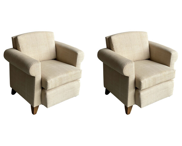 1940's French Pair Club Chairs in Style of Adnet