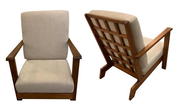 1950's French Pair Renee Gabriel Club Chairs