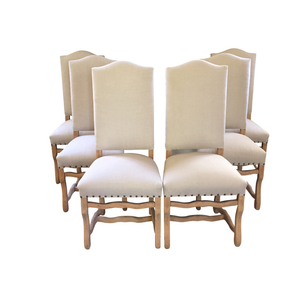 1920s French Bleached Os d'Mouton Dining Chairs